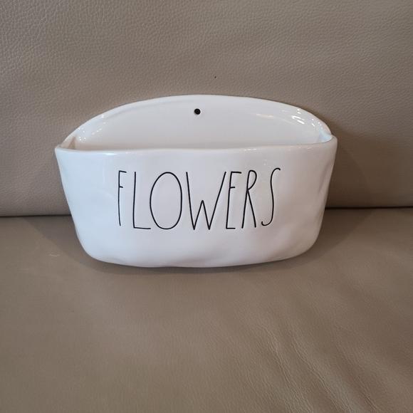 Rae Dunn Flowers Planter